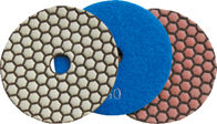 China 150mm Dry Diamond Polishing Pads For Granite , Concrete , Quartz Stone company