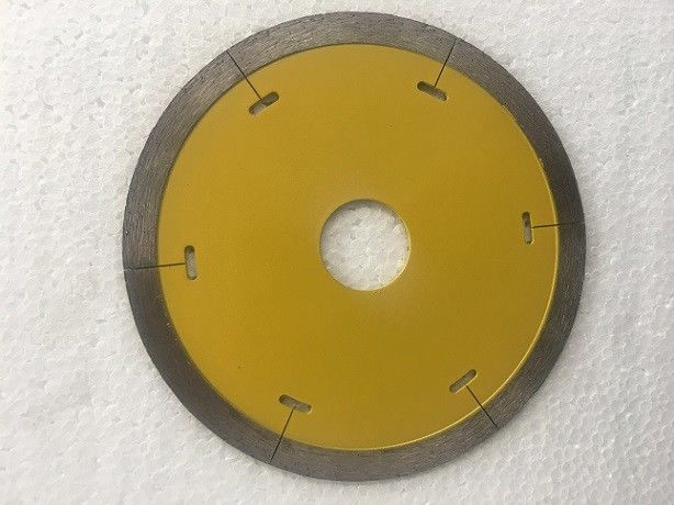 4'' Continuous Rim Saw Blade For Porcelain Tile , 110mm Diamond Cutting Blades