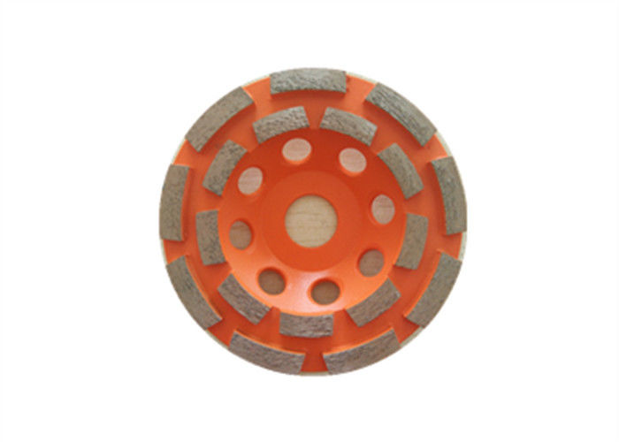 Orange Sintered 4.5 Inch Diamond Grinding Wheel Double Row MPA Listed