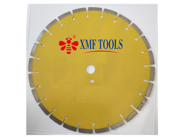 "14 "" Laser Welded Saw Blade With Deep Teeth  For Green  Concrete  Aspholt Yellow"