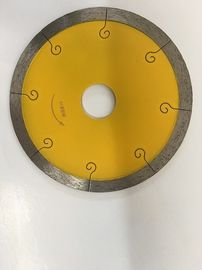 Yellow 4.5 Inch Continuous Rim Saw Blade For Porcelain Tile , 115mm Diamond Cutting Blades